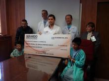 Dip. Gerardo Serrano entrega donativo a Hospital Central